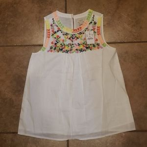 J. Crew Sleeveless Floral Accents Top new size 00
